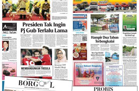 Rakyat Bengkulu 20 Februari 2021