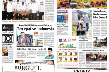 Rakyat Bengkulu 29 Mei 2021