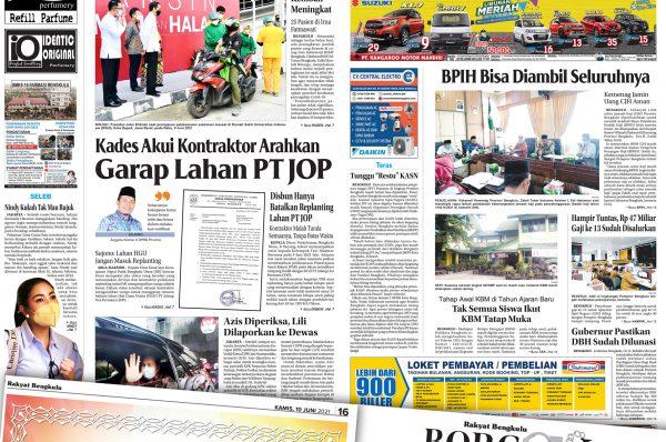 Rakyat Bengkulu 10 Juni 2021