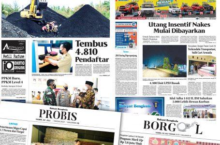 Rakyat Bengkulu 22 Juli 2021
