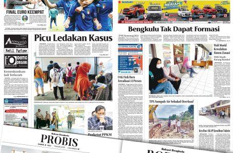 Rakyat Bengkulu 8 Juli 2021