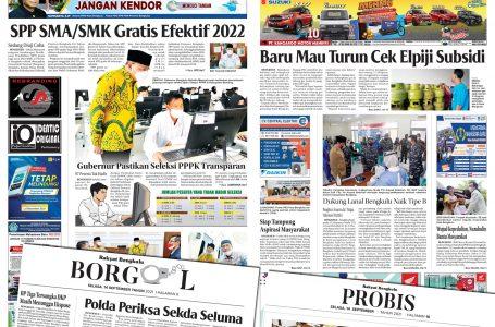 Rakyat Bengkulu 14 September 2021