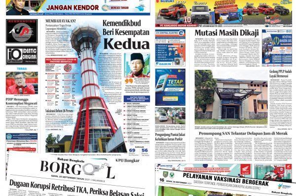 Rakyat Bengkulu 20 September 2021