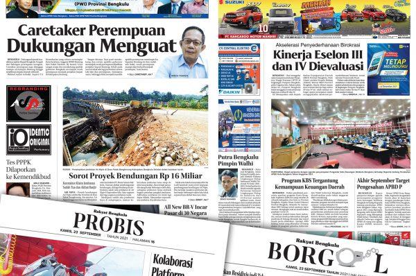 Rakyat Bengkulu 23 September 2021