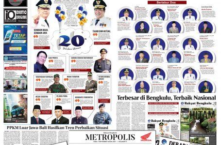 Rakyat Bengkulu 1 September 2021