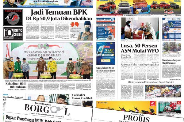 Rakyat Bengkulu 25 September 2021