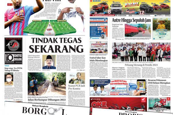 Rakyat Bengkulu 24 Oktober 2021